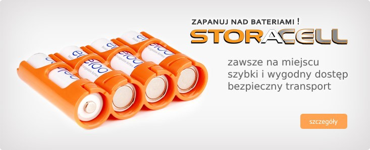 Powerpax Storacell pojemniki na baterie i akumulatory