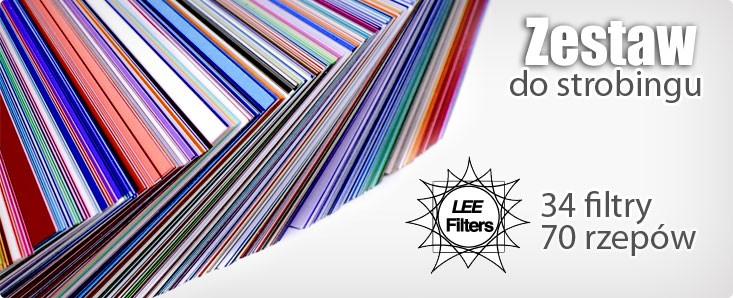 Zestaw filtrów żelowych Lee i rzepów